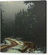 On A Snowy Evening Canvas Print