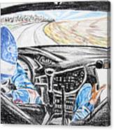 On Board Colin Mcrae Canvas Print