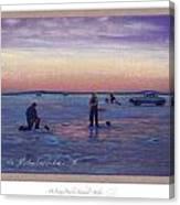 On Frozen Pond Canvas Print