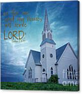 On Hallowed Ground - Bible Verse Canvas Print