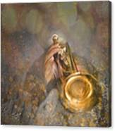 On Stage The Trumpeter Canvas Print