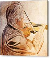 On Stage The Violinist Canvas Print