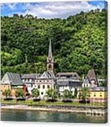 On The Banks Of The Rhine  Canvas Print