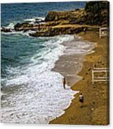 On The Beach - Dubrovnic Canvas Print