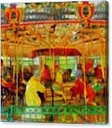 On The Carousel Canvas Print