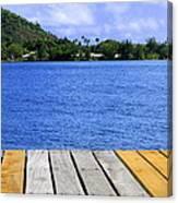 on the dock in Tahiti Canvas Print