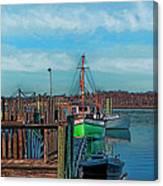 On The Dockside Bristol Rhode Island Canvas Print