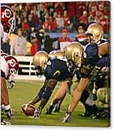 On The Goal Line - Notre Dame Vs Utah Canvas Print