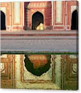 On The Grounds Of The Taj Mahal Canvas Print