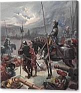 On The Night Of Marignan, Illustration Canvas Print
