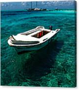 On The Peaceful Waters. Maldives Canvas Print