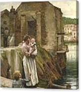 On The Quay Newlyn Canvas Print