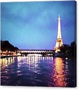 On The River Seine Canvas Print