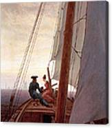 On The Sailing Boat Canvas Print