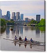On The Schuylkill Canvas Print