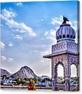 On The Shores Of Pushkar Lake Canvas Print