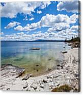 On The Shores Of Yellowstone Lake Canvas Print
