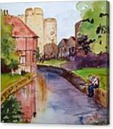 On The Stour River -canterbury Canvas Print