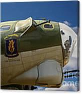 On The Tarmac B-17g Canvas Print