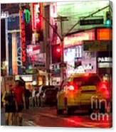 On The Town - Times Square Canvas Print