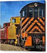 On The Tracks Canvas Print