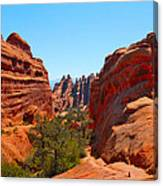 On The Trail At Arches Np Canvas Print