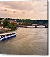 On The Vltava River - Prague Canvas Print