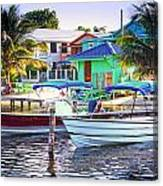 On The Waterfront Caye Caulker Belize Canvas Print