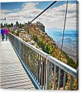 On Top Of Grandfather Mountain Mile High Bridge In Nc Canvas Print