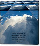 On Your Way Up Canvas Print