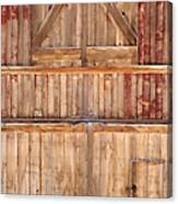Once Red Doors Canvas Print