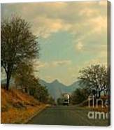 Oncoming Truck Canvas Print