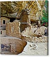 One End Of Spruce Tree House On Chapin Mesa In Mesa Verde National Park-colorado Canvas Print