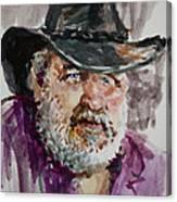 One Eyed Cowboy  Canvas Print