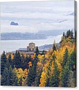 One Foggy Fall Day At Crown Point Canvas Print