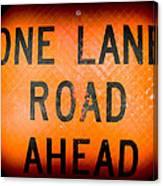 One Lane Road Canvas Print