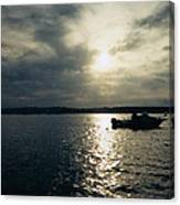 One Lonely Fisherman Canvas Print