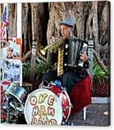 One Man Band - Miami Florida Canvas Print