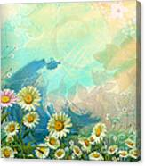 One Pink Daisy Canvas Print