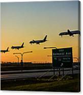 One Plane Landing At O'hare Canvas Print