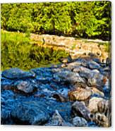 One River - Three Flows Canvas Print