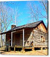 One Room Pioneer Log Cabin  Canvas Print