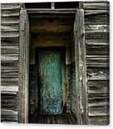 One Room Schoolhouse Door - Damascus - Pennsylvania Canvas Print
