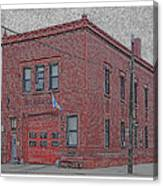 One Truck Fire Station Canvas Print