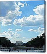 One View Two Memorials Canvas Print