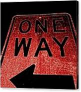 One Way Canvas Print