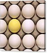One Yellow Egg With White Eggs Canvas Print