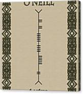 O'neill Written In Ogham Canvas Print