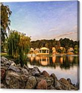 Onondaga Park Hiawatha Lake Canvas Print