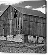 Ontario Barn Monochrome Canvas Print